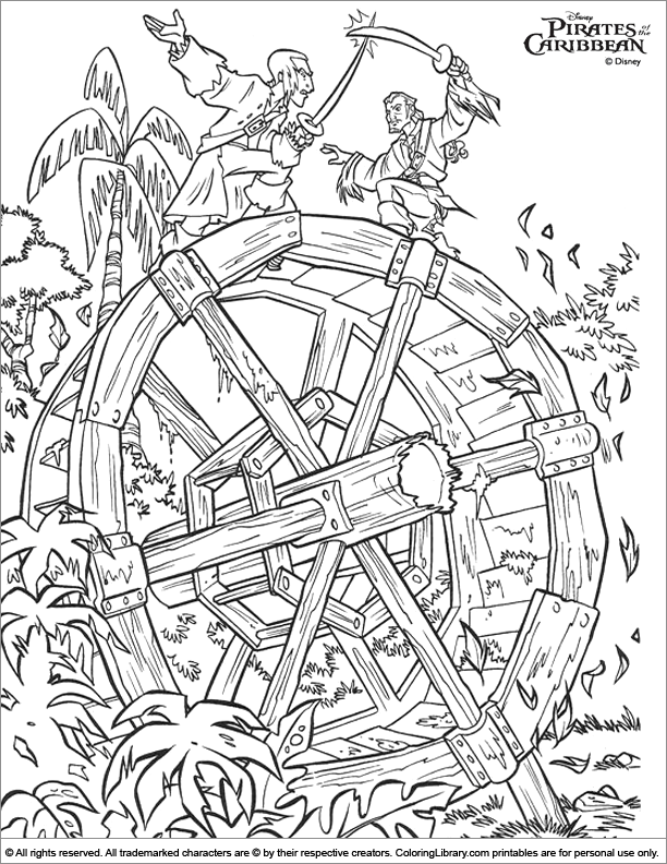 Pirates Caribbean 5 Coloring Pages