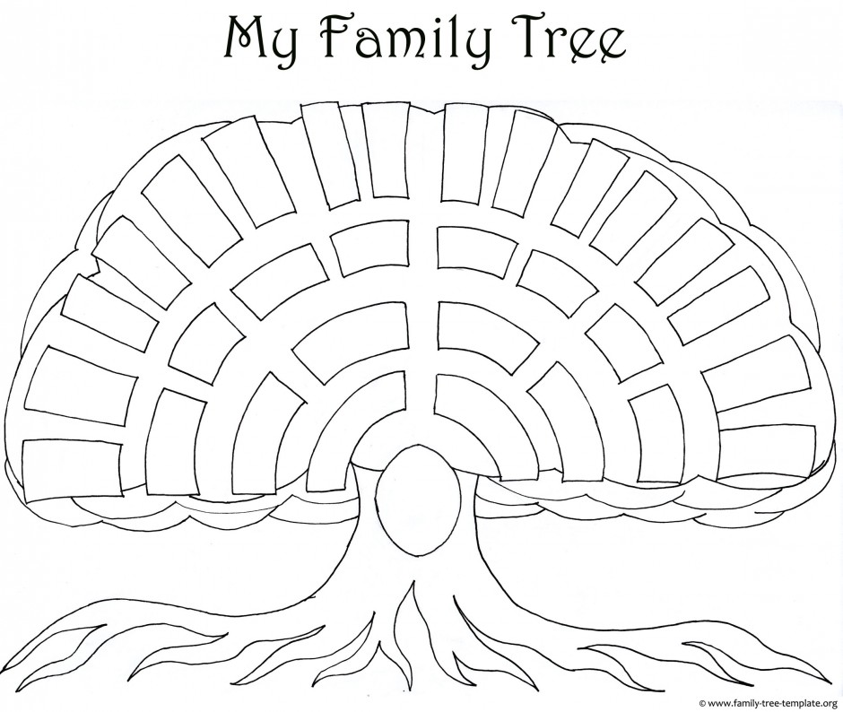 A Printable Blank Family Tree To Make Your Kids Genealogy