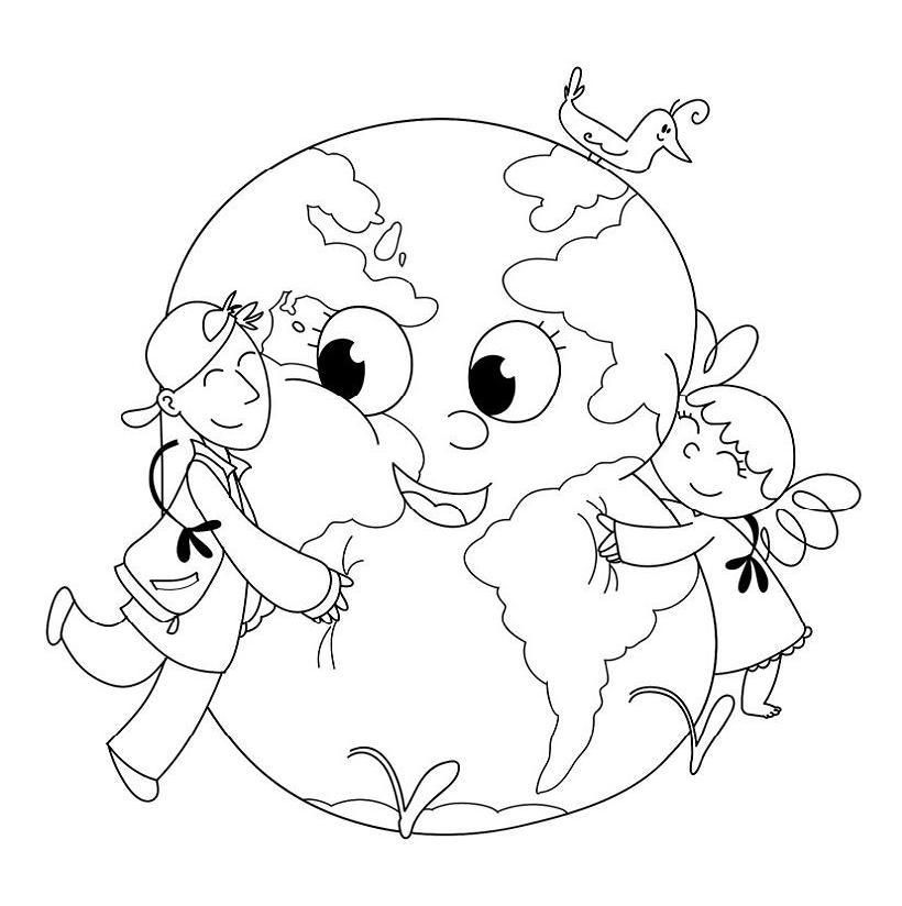Coloring pages save the planet earth
