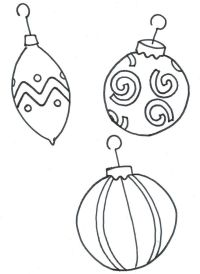 Christmas Tree Ornaments Coloring Pages Pictures to Pin on ...