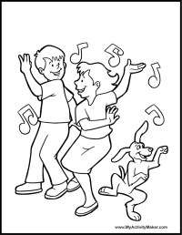 Dance Coloring Pages - AZ Coloring Pages