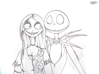 Jack Skellington Coloring Pages - Coloring Home