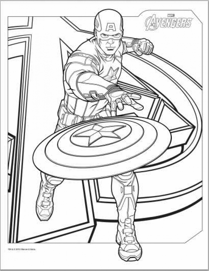 Printable Captain America Coloring Pages For Boyfree