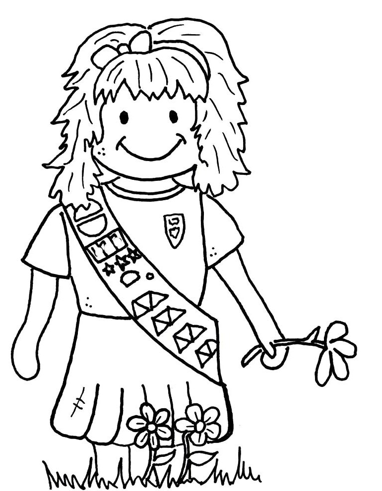 Girl Scout Coloring Pages For Daisies Sketch Coloring Page