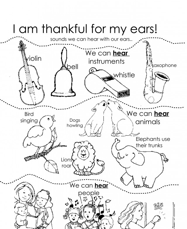 I Am Thankful For My Ears LDS Lesson Ideas 135599