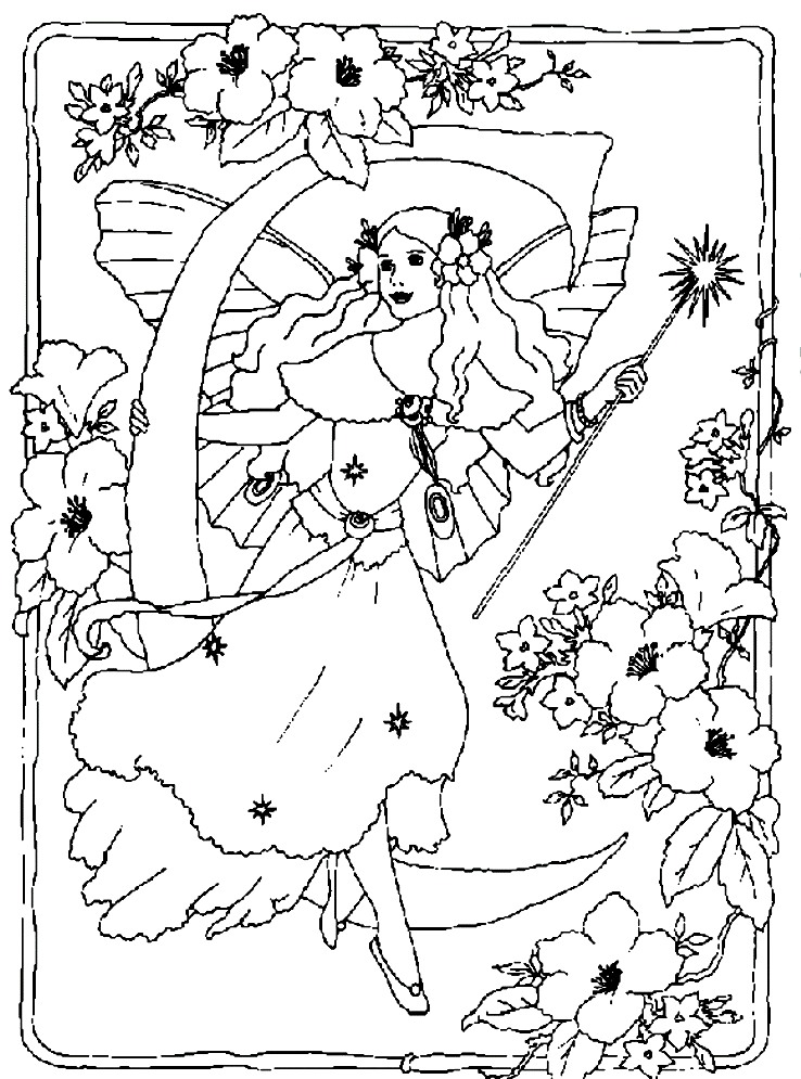 Realistic Fairy Tale Coloring Pages Coloring Pages