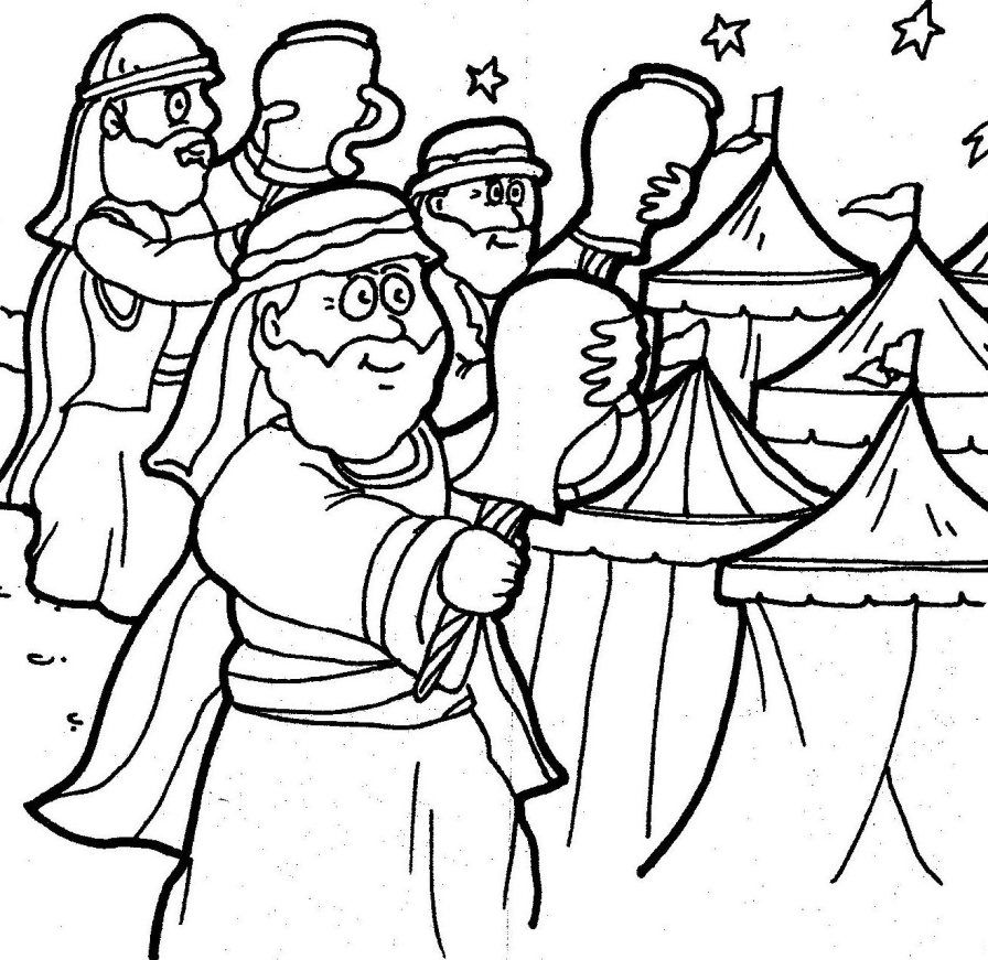 Judges Bible Coloring Pages Sketch Coloring Page