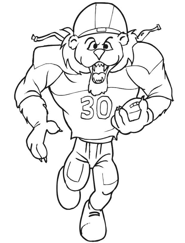 Nfl Player Coloring Sheets Coloring Pages