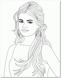 Coloring Pages Of Selena Gomez - Coloring Home