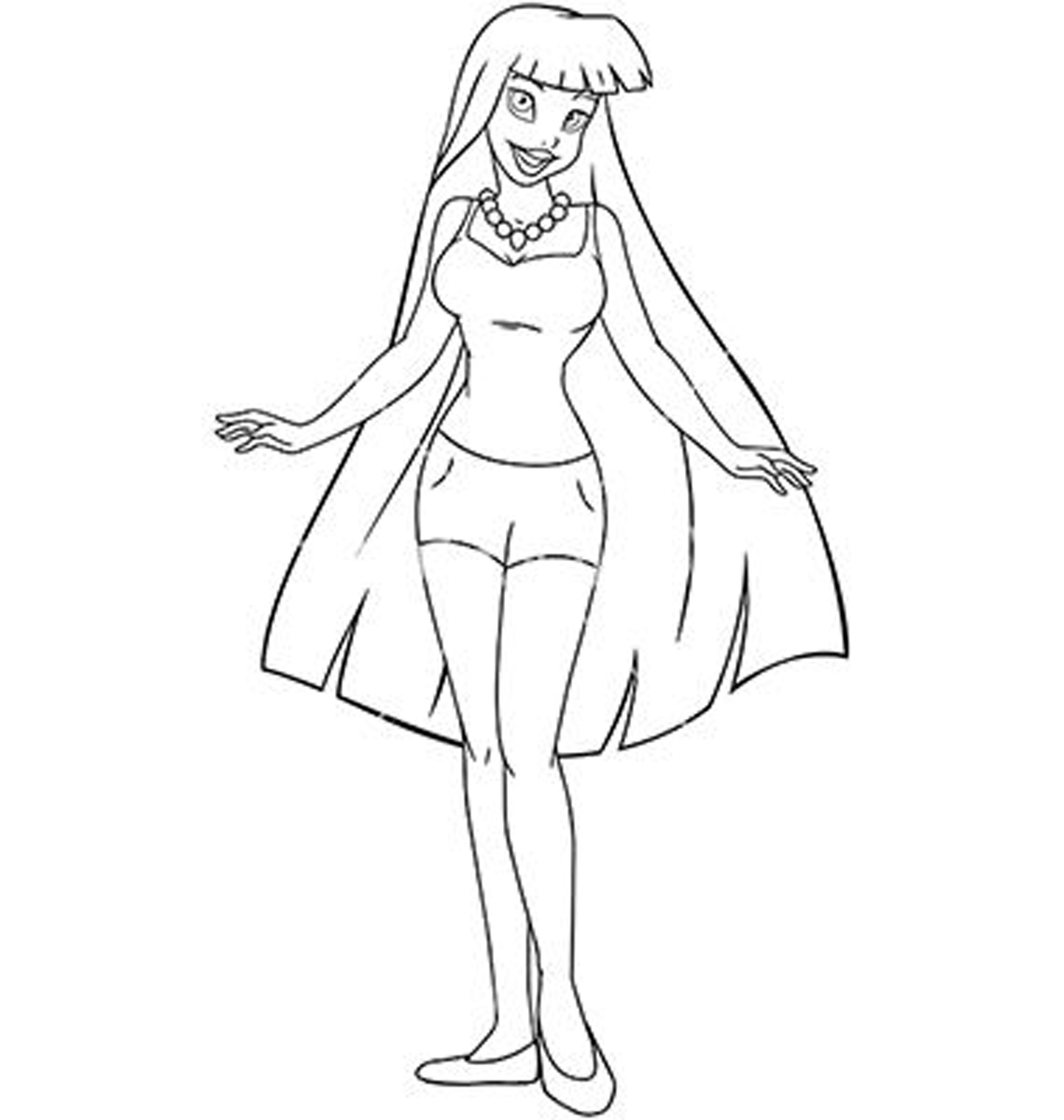 Fashion Coloring Pages Sketch Coloring Page