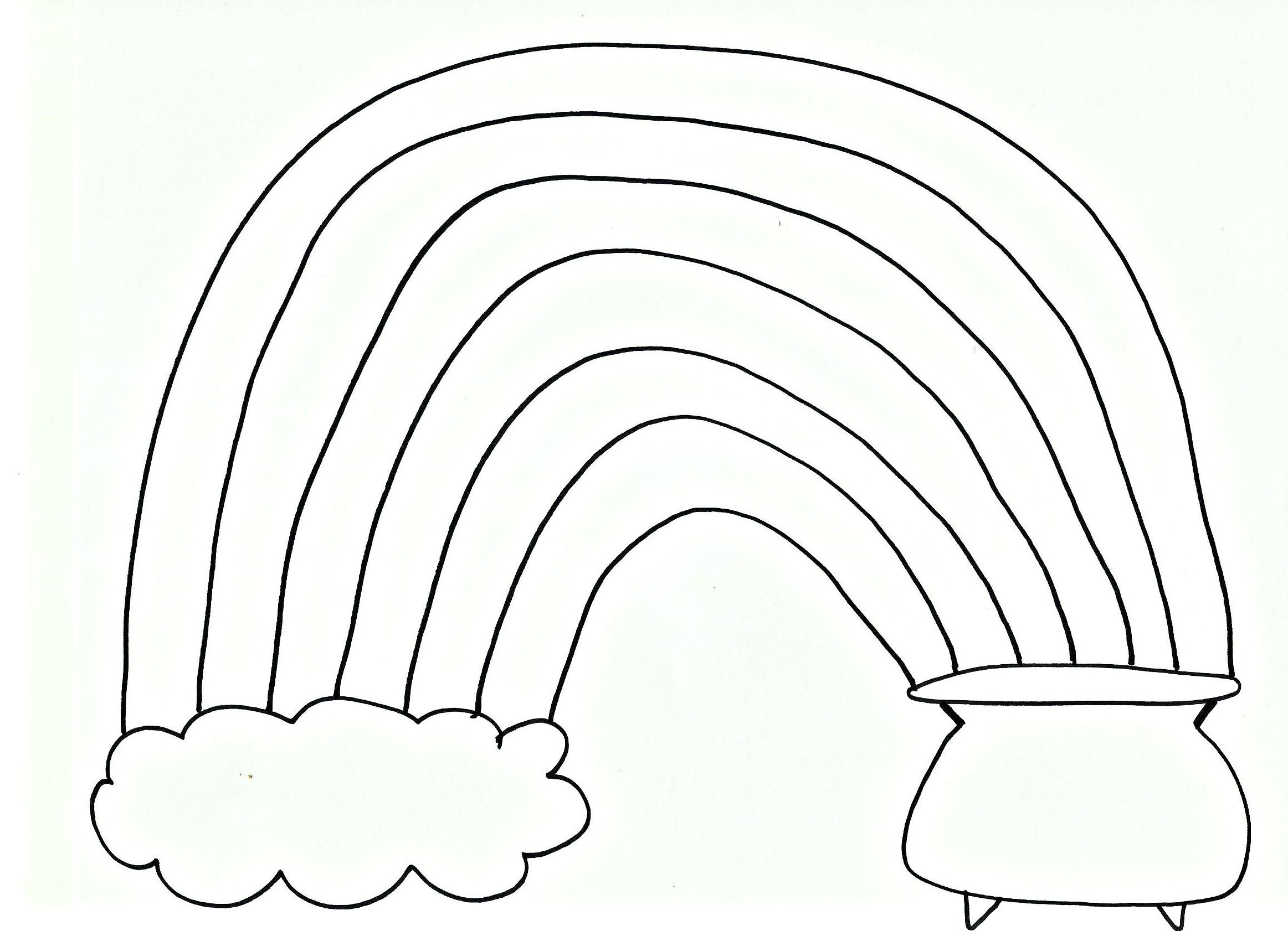 Rainbow Free Printable Coloring Pages
