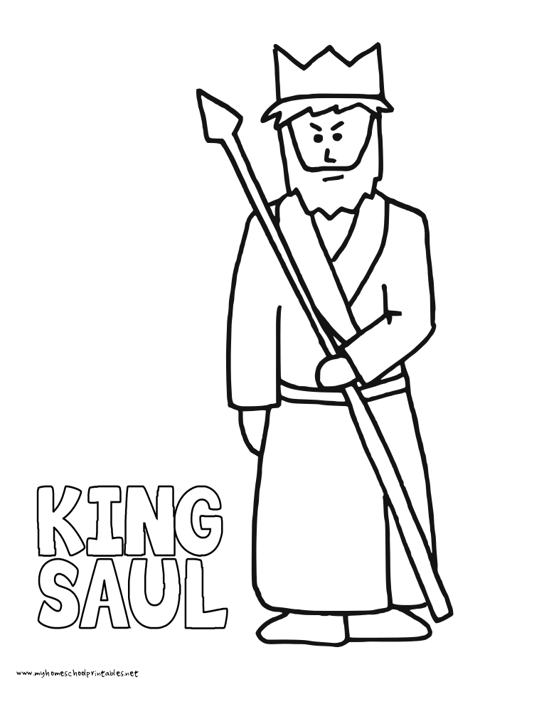 King Saul Bible Coloring Pages Coloring Pages