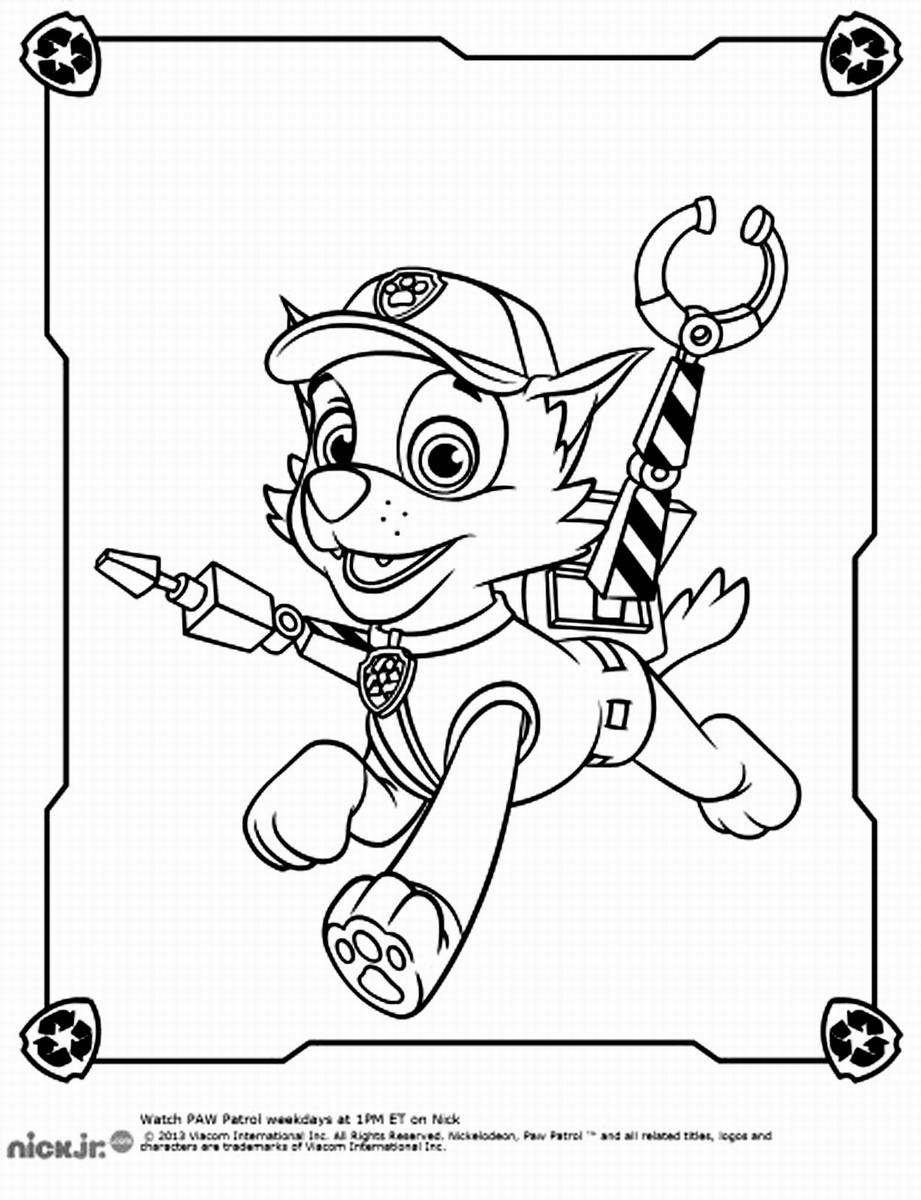 Rocky Paw Patrol Coloring Pages
