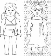 Coloring Pages American Girl - AZ Coloring Pages