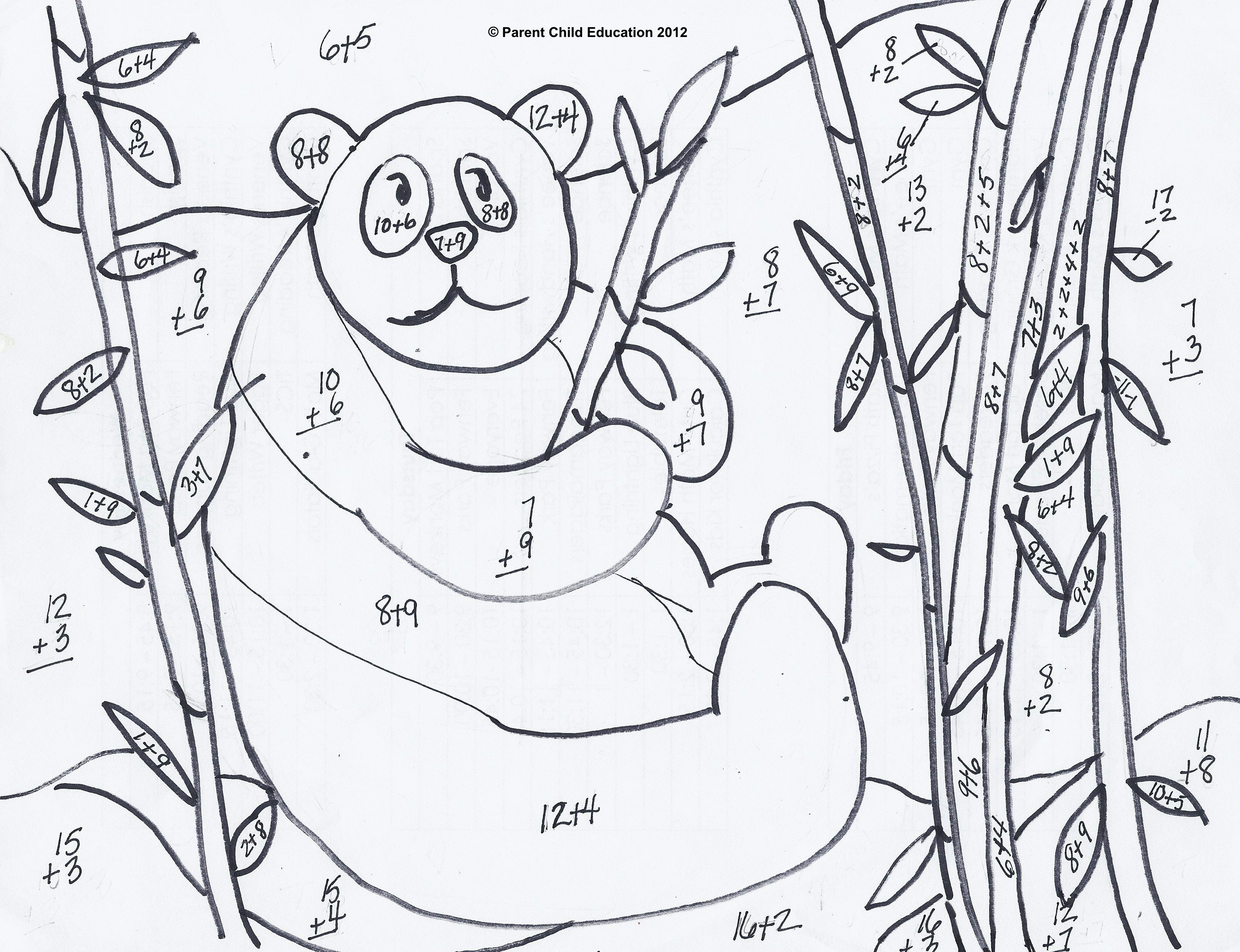 Addition And Subtraction Coloring Worksheets For First