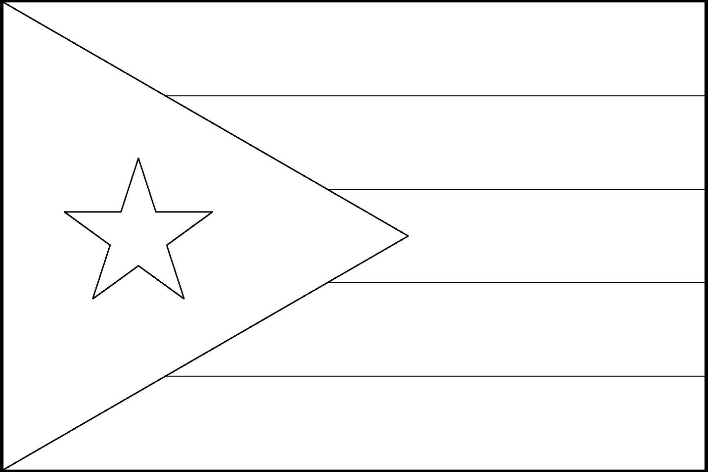Puerto Rico Flag Worksheet
