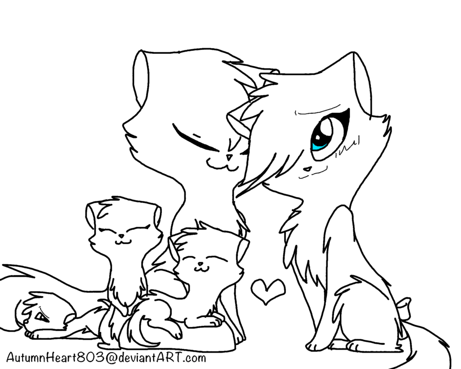 FREE WARRIOR CAT FAMILY LINEART:. By AutumnHeart803 On