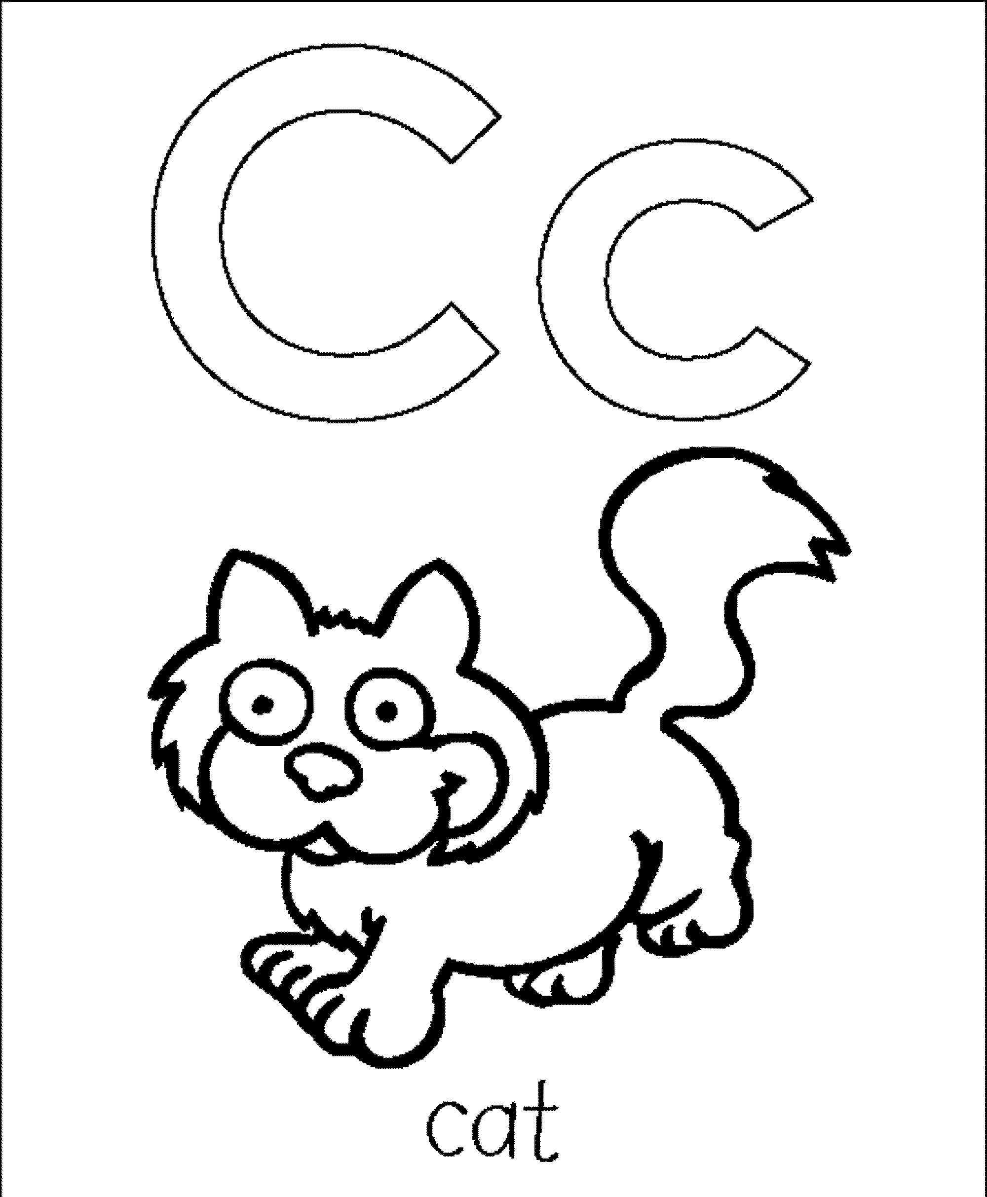 Letter C Coloring Pages Printable