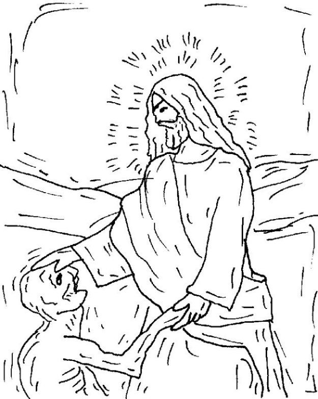 Free coloring pages of jesus heals
