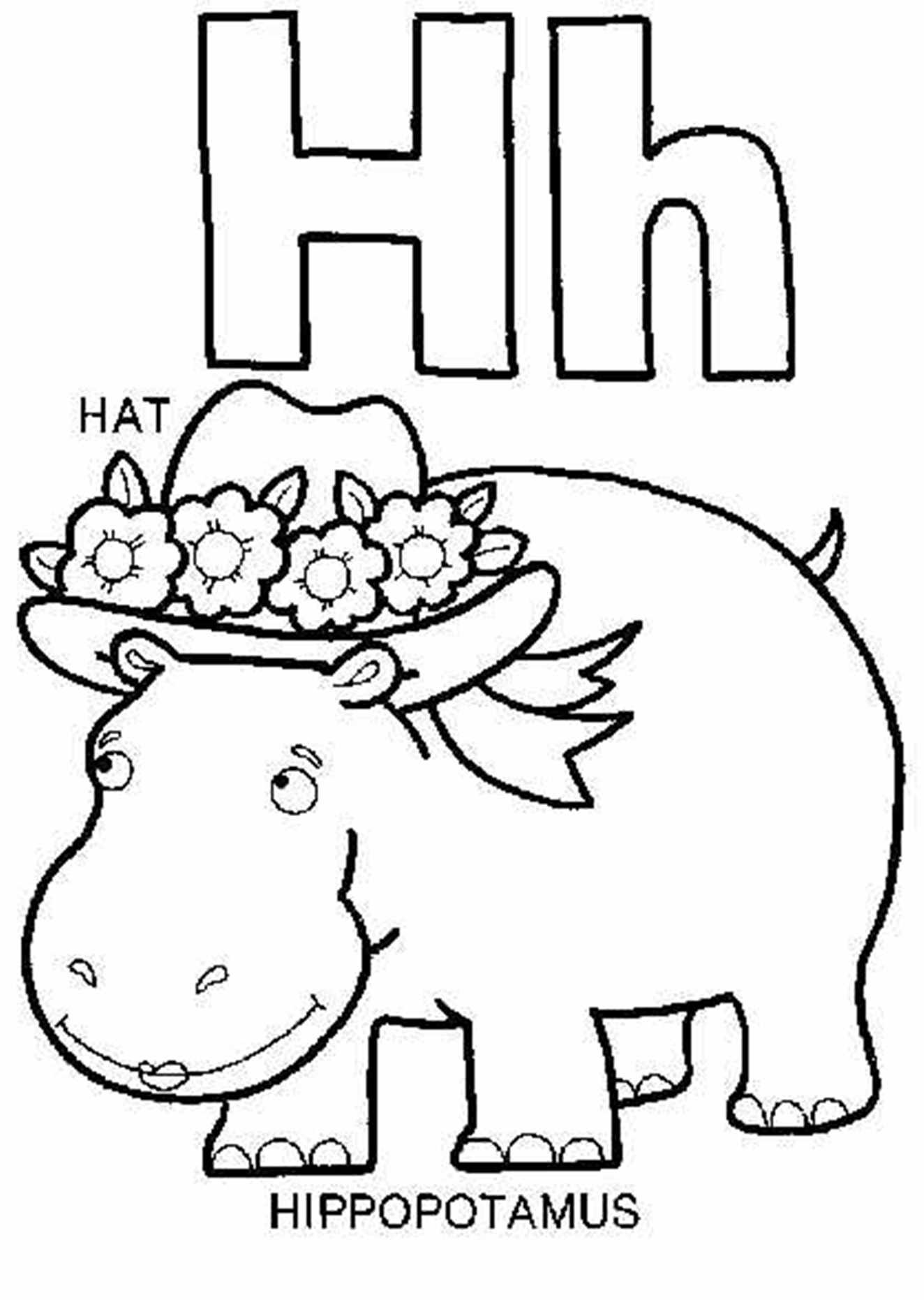 H Coloring Page