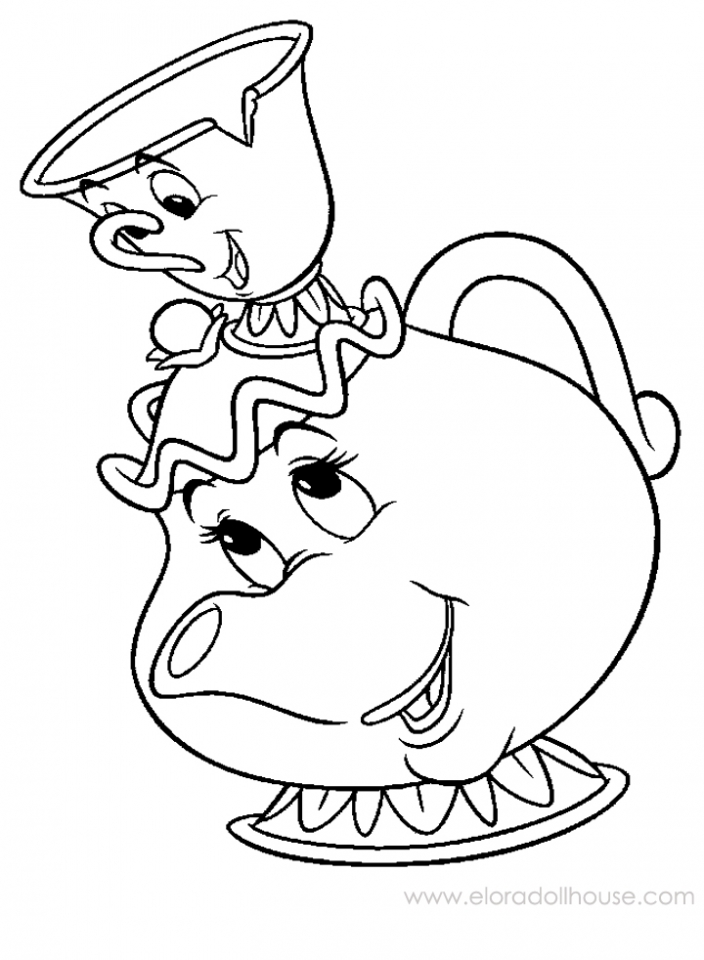 simple tea cup coloring pages