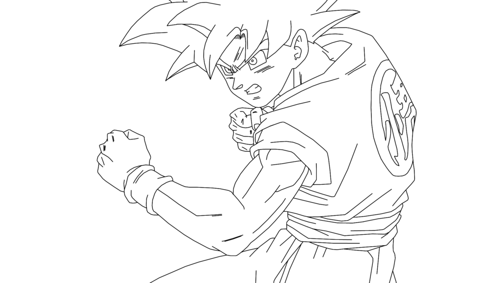 Dragon Ball Z Super Saiyan 4 Coloring Pages   AZ Coloring Pages