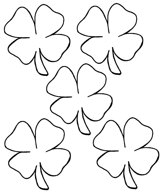 Free Kids Coloring Pages To Print Clovers