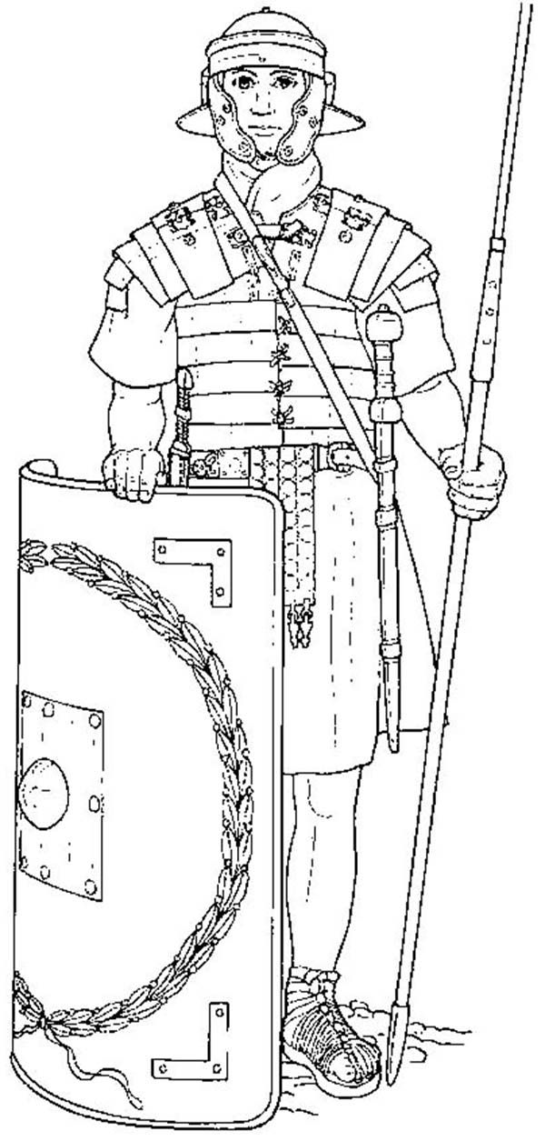 Roman Army Coloring Pages Coloring Pages