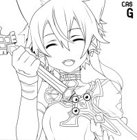 Sword Art Online Coloring Pages - Coloring Home