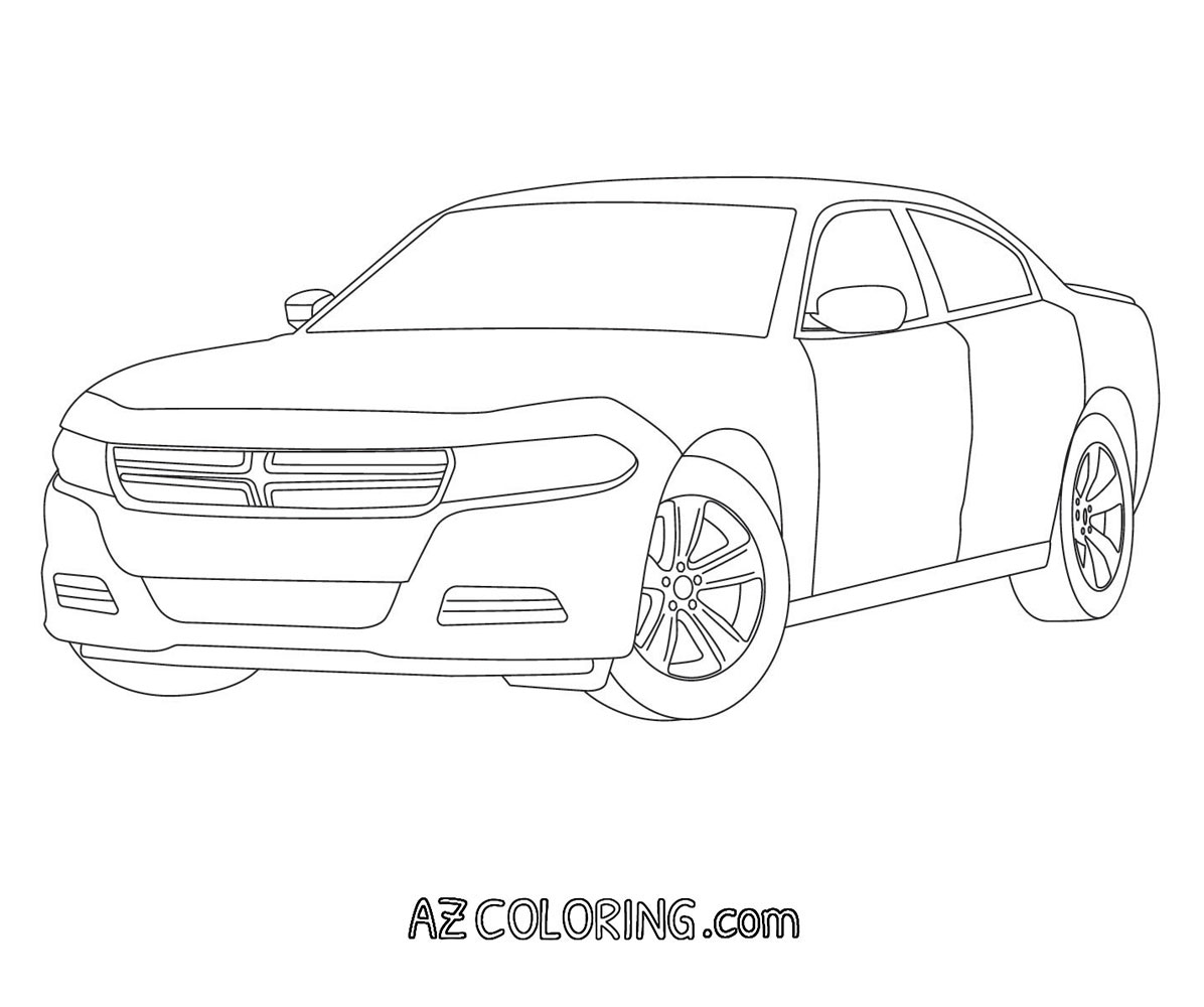 69 Dodge Charger Coloring Pages Coloring Pages