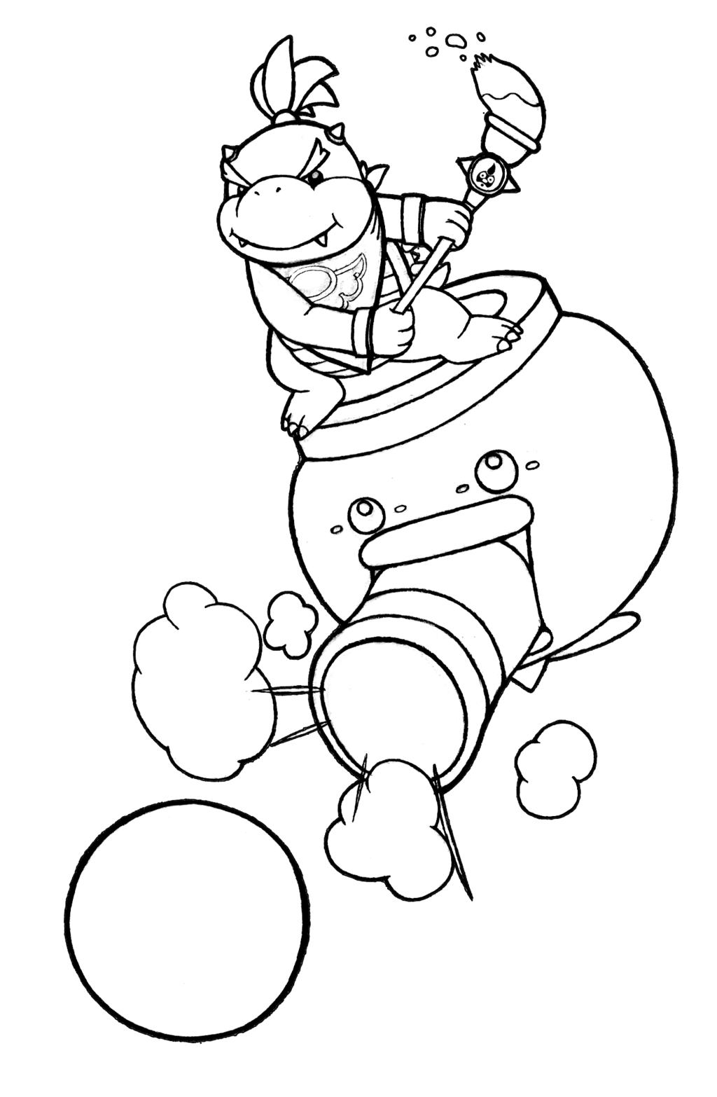 Larry Mario Bros Coloring Pages