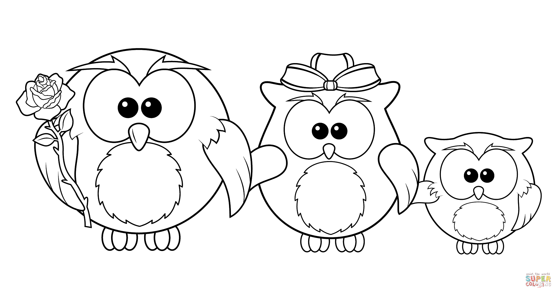 Animal Family Coloring Page