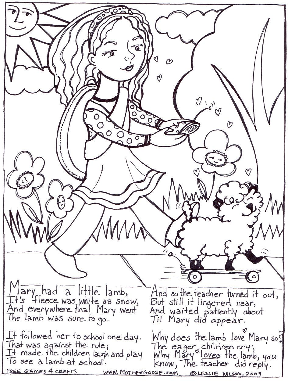 Printable Lamb Coloring Pages