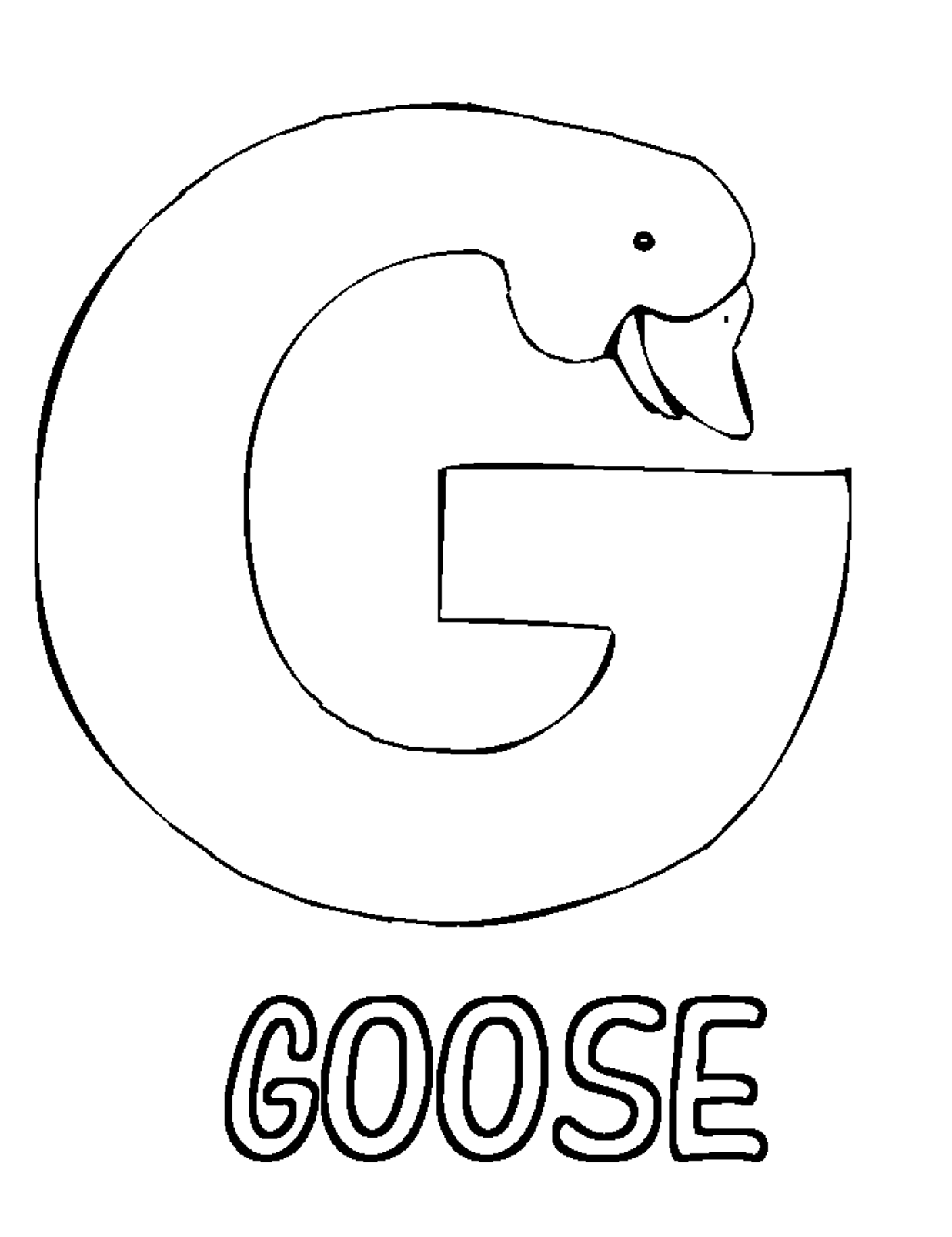 Letter Coloring Pages For Preschoolers