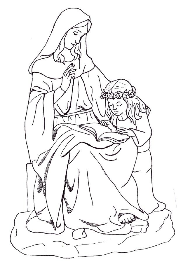 Blessed Virgin Mary Coloring Pages Sketch Coloring Page