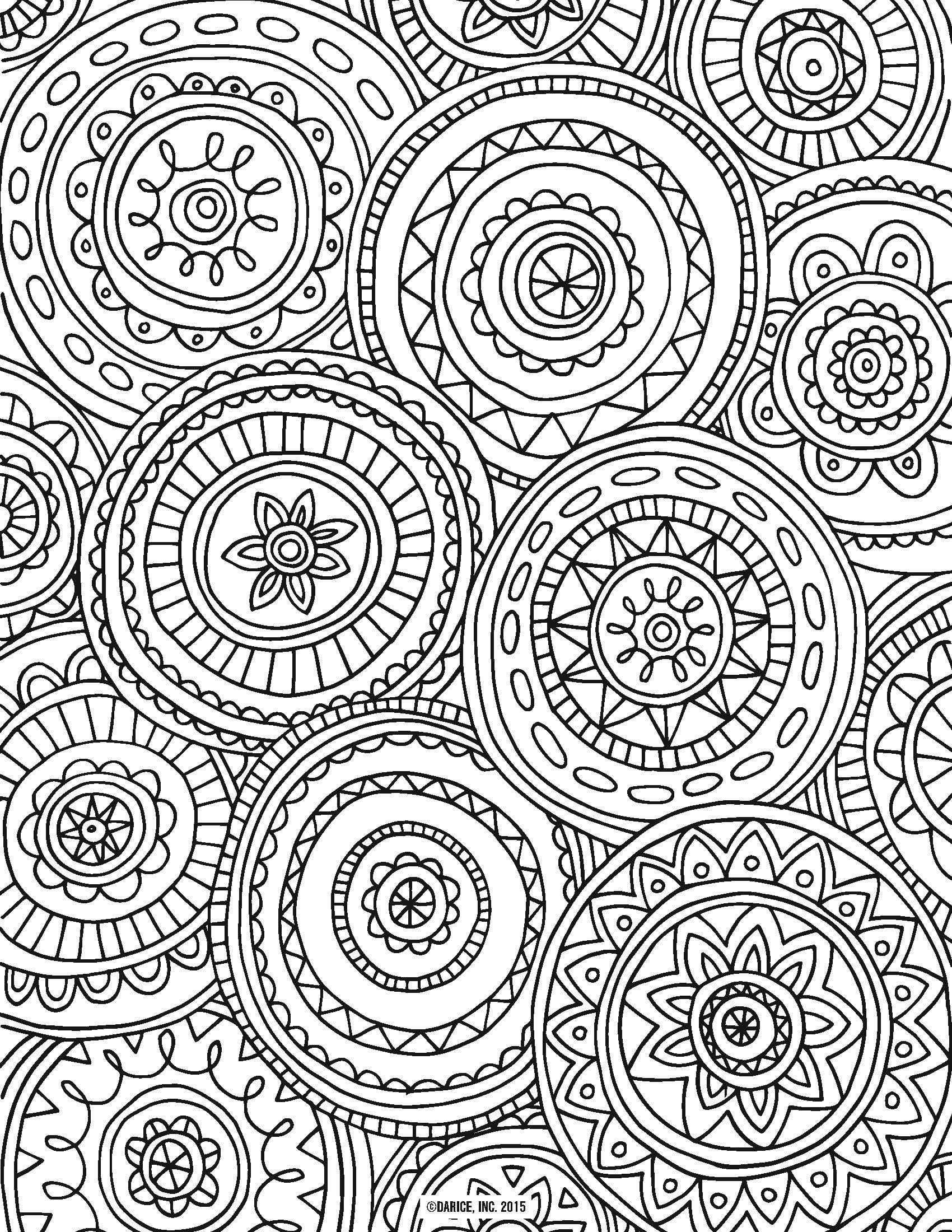 Printable Adult Coloring Pages Abstract