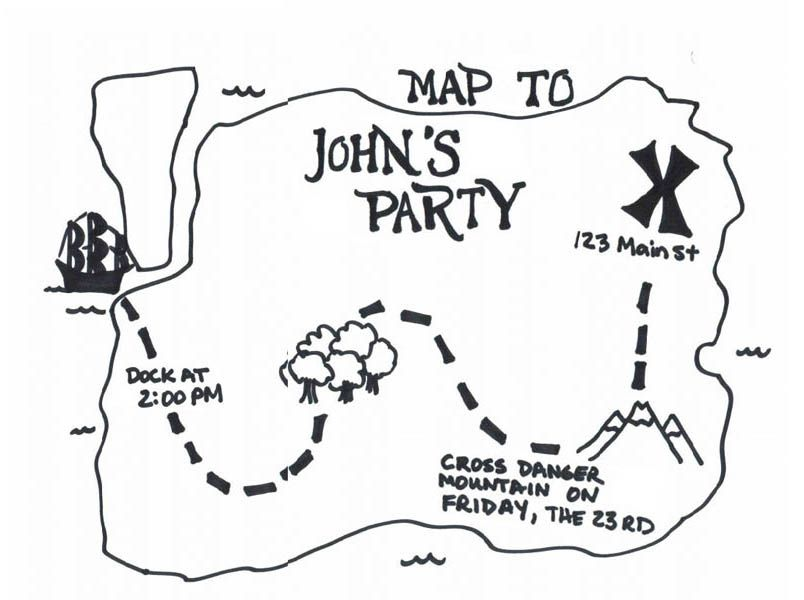 Christian Treasure Map Page Coloring Pages
