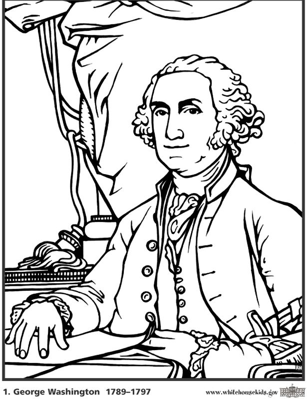 George Washington Coloring Sheet Classical Homeschooling For Kinder