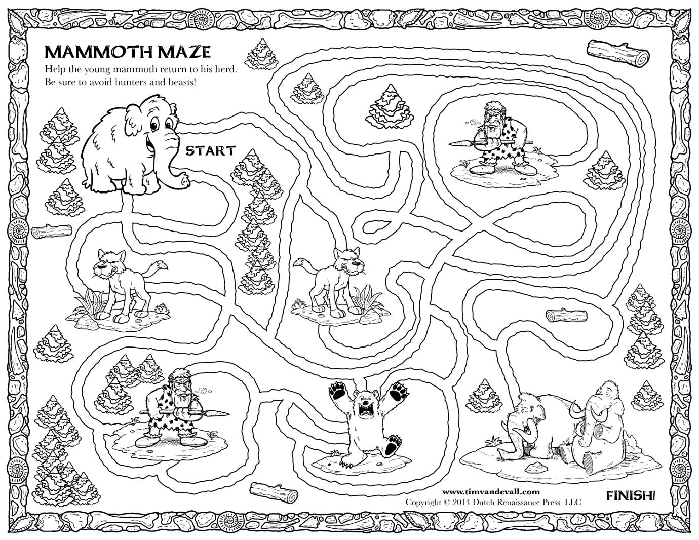 Mamoth Coloring Page