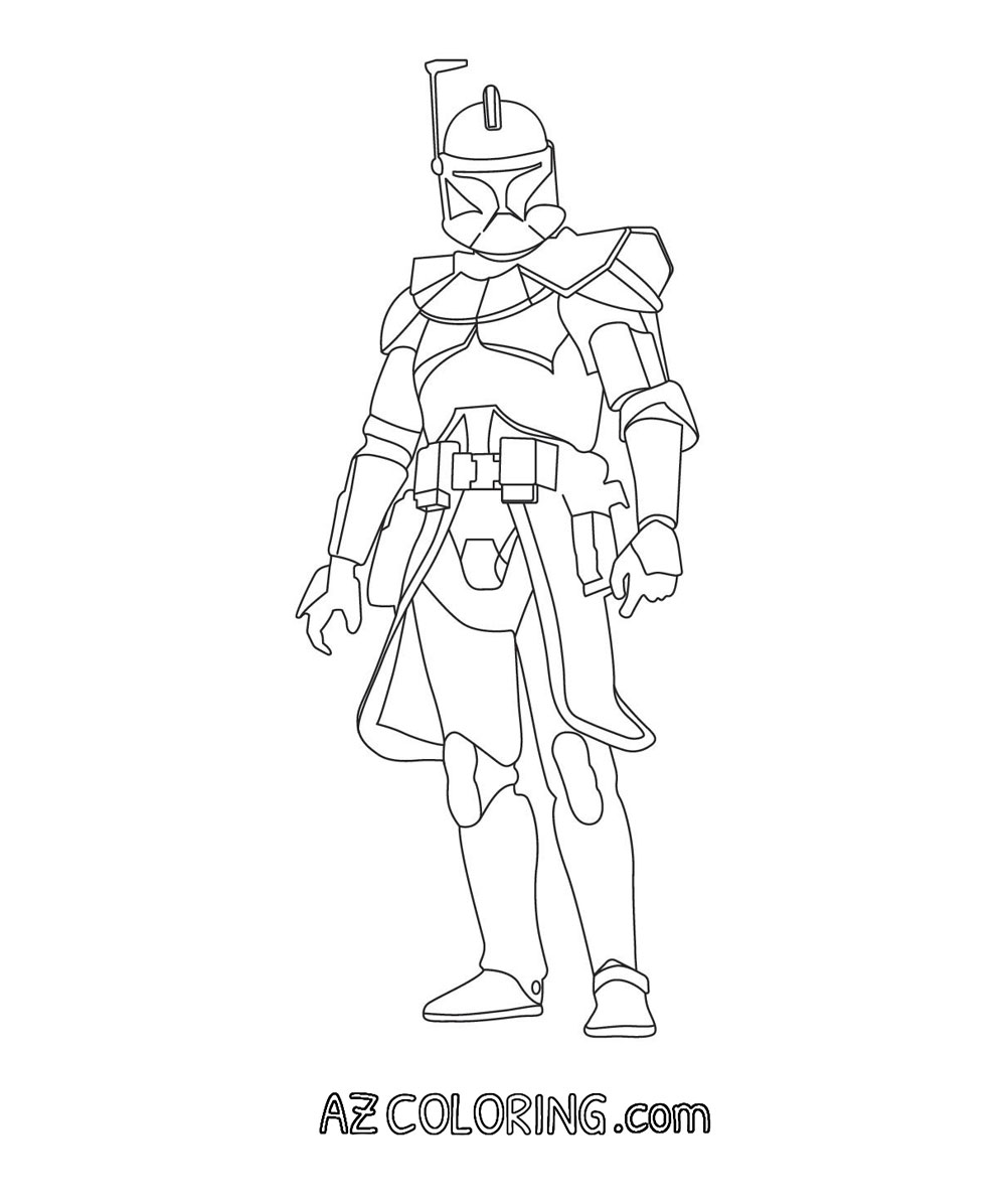 Star Wars Clone Wars Trooper Coloring Pages