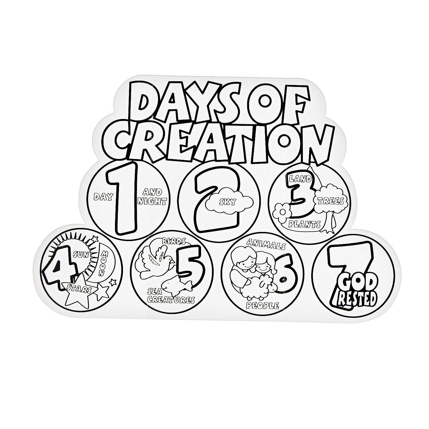 Creation Coloring Pages