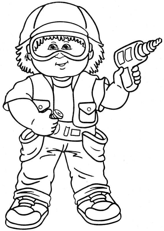 Cabbage Patch Kids Coloring Pages Coloring Home