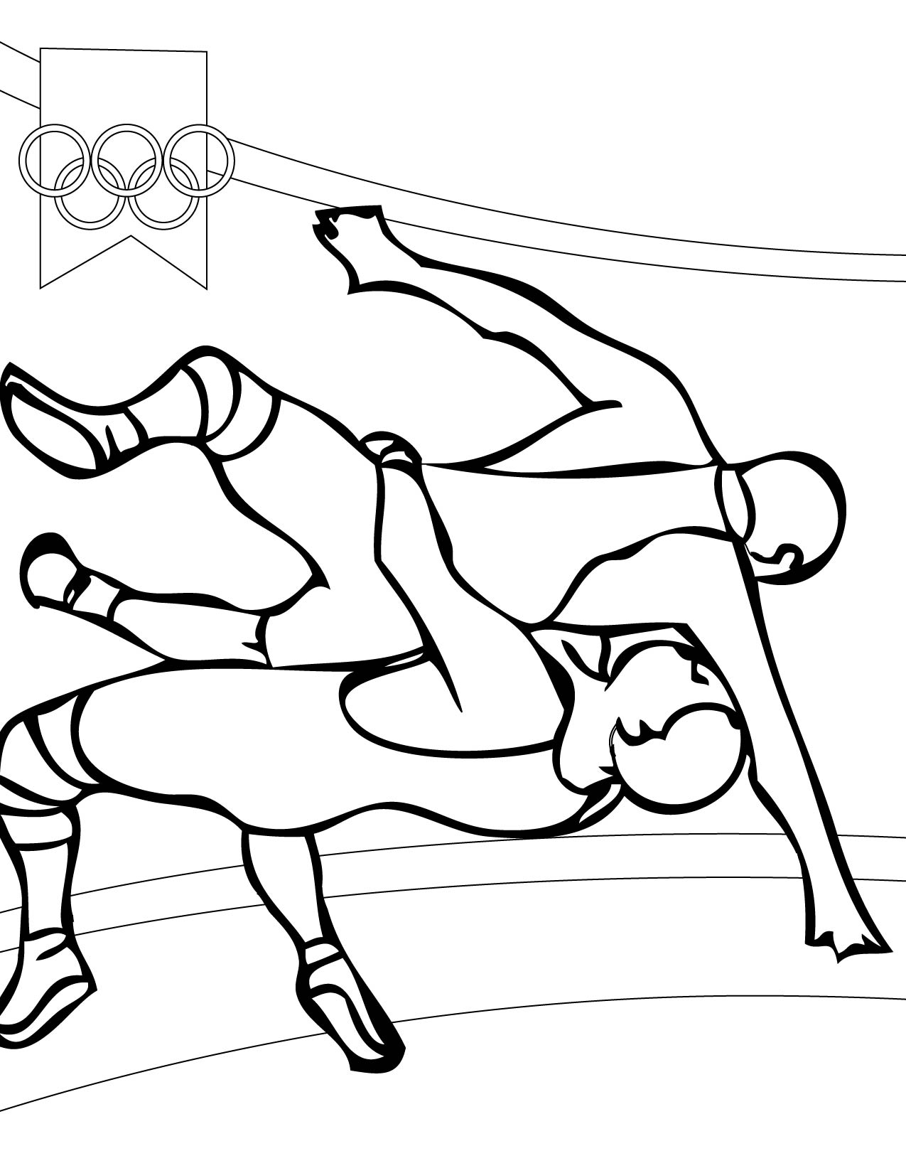 Wrestling Coloring Pages For Kids