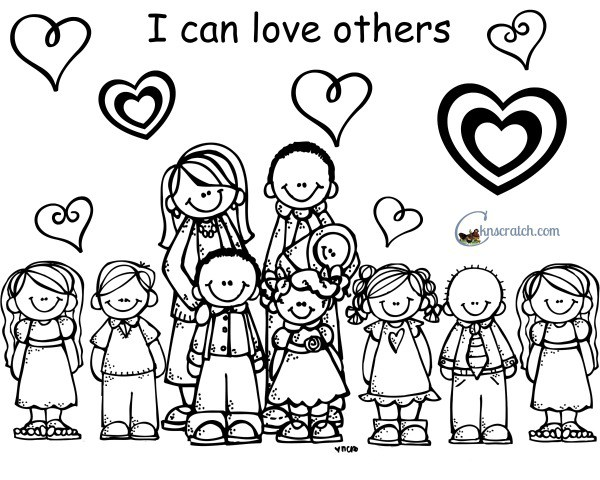Love One Another Coloring Pages Home Sketch Coloring Page