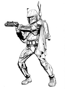 Star Wars Boba Fett Coloring Pages