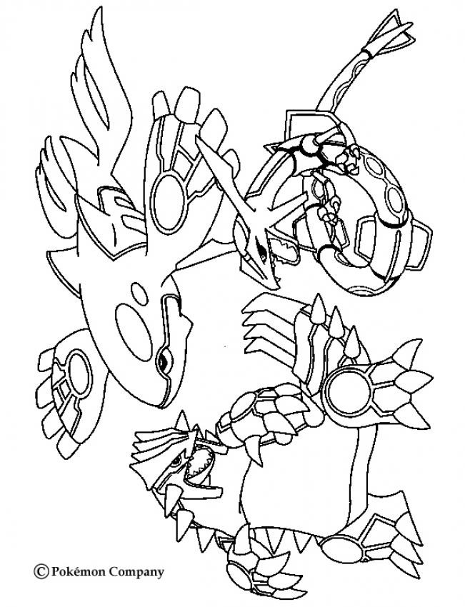 Groudon Coloring Sheets