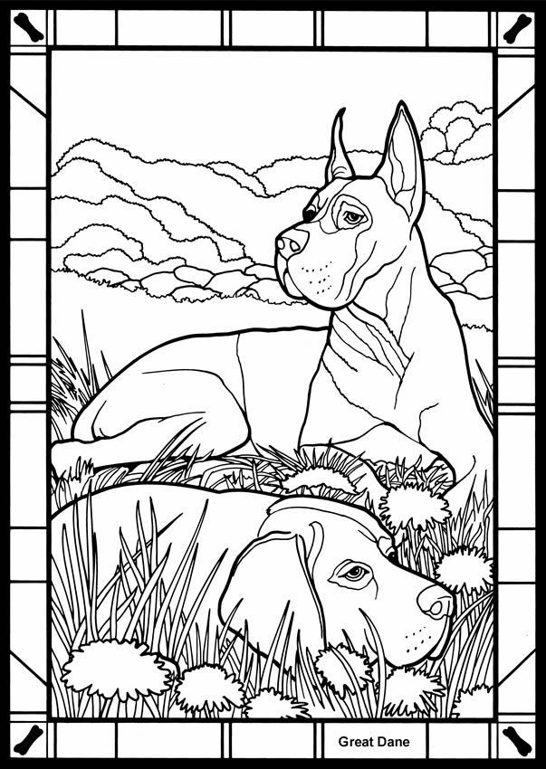 great dane Colouring Pages (page 2)