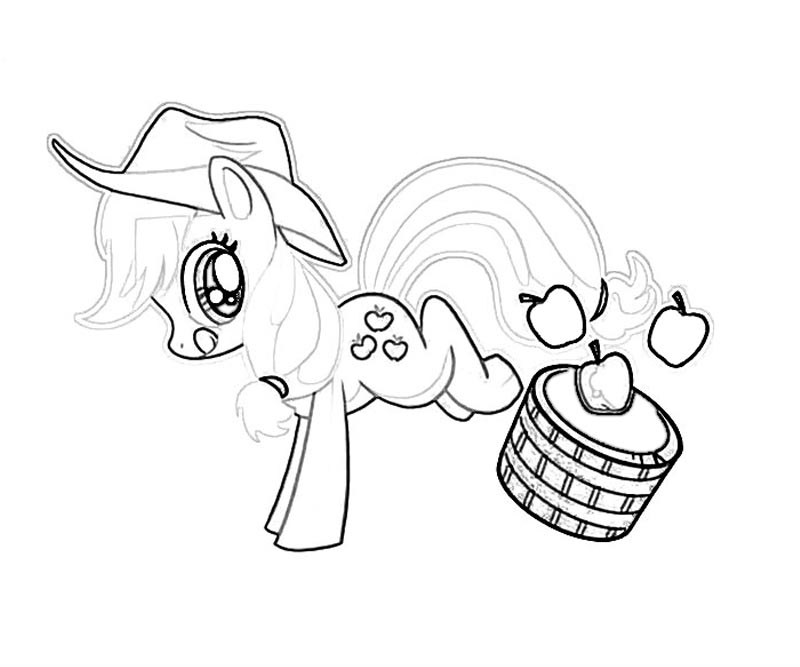 Free Coloring Pages Applejack