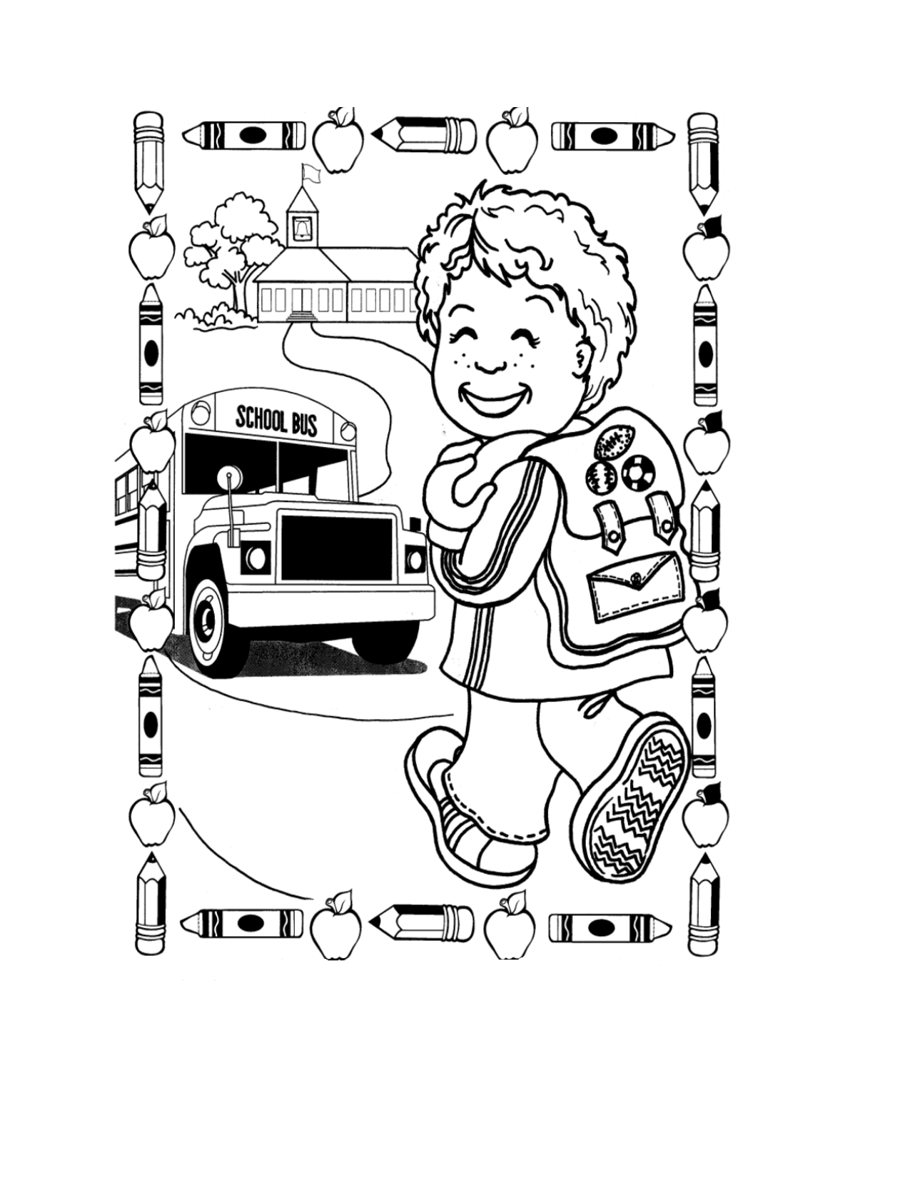 Back To School Coloring Pages For First Grade