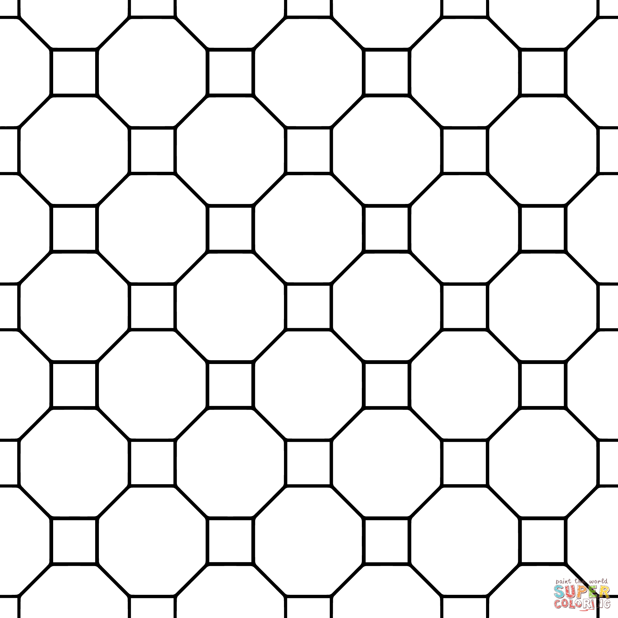 Easy Tessellation Coloring Sheets Coloring Pages